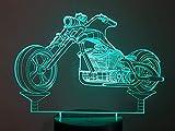 Motorrad-Chopper, 3D-Lampe LED