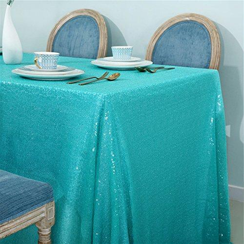 Zdada Pailletten-Tischdecke Hochzeit Sparkly, Tiffany Blue, 50