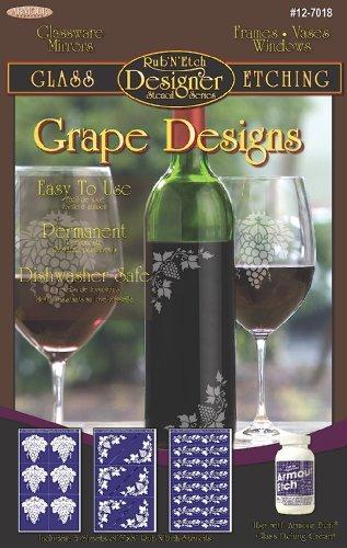 Armour Etch Designer Stencil Pak Grape Designs by Armour Etch Designer Stencil Pak