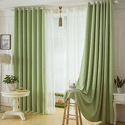 Gardinen,Modernen minimalistischen Wohnzimmer Schlafzimmer Vorhänge Verdickte bronzing Stoff drapiert-E 200x220cm(79x87inch) (Krawatte Drapierte)