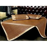 Preisvergleich für Coole Matratze Sommer Royal Rattan Sitze zwei oder drei Sätze von einzelnen Doppel-Faltmatten Klimaanlage Matten Coole Bambusmatte (größe : 1.8m bed)