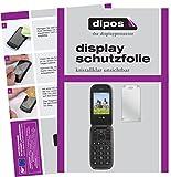 dipos I 2X Schutzfolie klar passend für Doro PhoneEasy 613 Folie Bildschirmschutzfolie