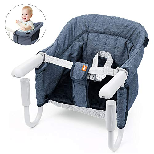 Tischsitz Faltbar Babysitz Baby Hochstuhl Sitzerhöhung für zu Hause und Unterwegs mit Transporttasche