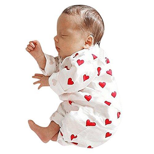 Mbby pagliaccetto neonato, 3-18 mesi unisex pagliaccetti pigiama in cotone caldo stampa manica lunga tutina fumetto outfits per ragazze e ragazzi inverno autunno