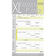XL Familienplaner Pastell 2018: Familienkalender mit 6 breiten Spalten. Hochwertiger Familientimer mit Ferienterminen, extra Spalte, Vorschau bis März 2019 und nützlichen Zusatzinformationen.
