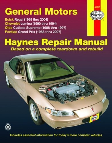 General Motors Buick Regal, Chevrolet Lumina, Olds Cutlass Supreme, Pontiac Grand Prix by (2009-03-15)