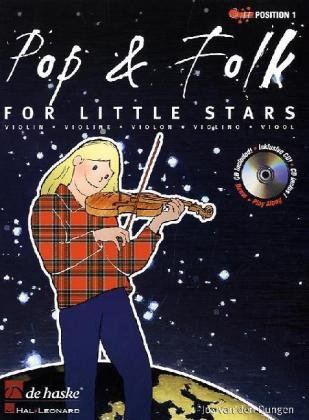 Pop & Folk for Little Stars, für Violine, m. Audio-CD