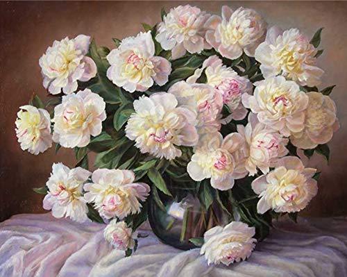 LZHProcess Wei/ße Blumen kreative DIY Farbe nach Zahlen malen nach Zahlen f/ür Kinder Malerei Geschenk Geschenk Foto Wal L.