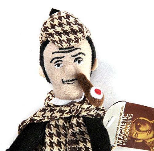 Sherlock Holmes Fingerpuppe und Kühlschrank-Magnet
