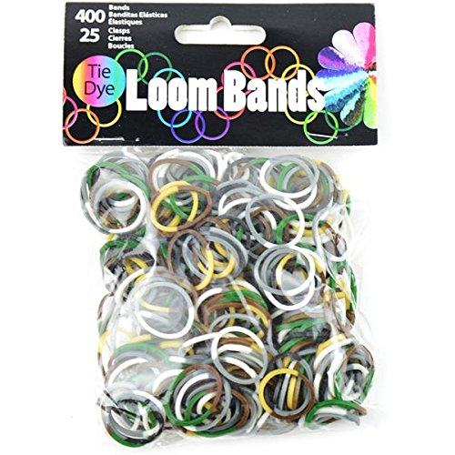 Loom Bands Assortment 425/Pkg-Camo Tie-Dye (Camo Tie Dye)