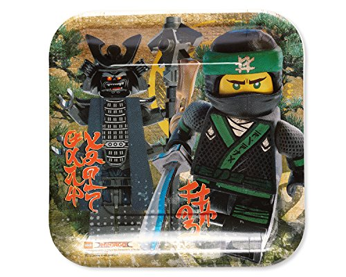 rr, Lego Ninjago, Quadratischer Teller, 23 cm 8 Stück ()