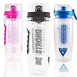 BeMo® The Original Motivational Infuser Bottle,...