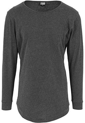 Urban Classics TB1101 Herren Langarmshirt Shaped Fashion Long Sleeve Tee schwarz (Charcoal) Medium