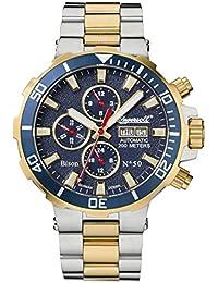 Ingersoll Bison No. 50automático para hombre reloj de plata de color dorado/azul in1314gblm