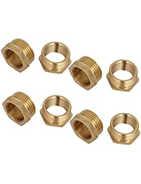 Tradico® 1BSP Male X 3/4BSP Female Thread Brass Hex Bushing Pipe Fitting 8pcs