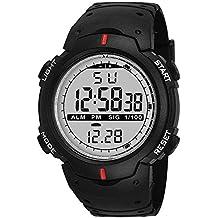 Emartos Digital Men's & Boys' Watch (Multicolour Dial Black Colored Strap)