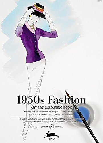 1950's Fashion : Livret de coloriage artistes ...