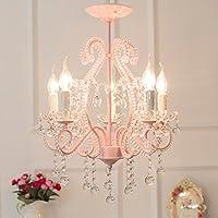 Schon Leuchter  Rosa Fünf Licht K9 Kristall Kerze Kronleuchter Mädchen  Schlafzimmer Deckenleuchte