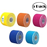 SUPVOX Kinesiology Tape Injury Recovery Tape for Neck Back Shoulder Arm Wrist Ankle and Knee 5 Rolls