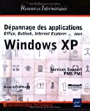 Dépannage des applications sous Windows XP...