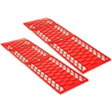 Dealberry Set of 2 Snow Traction Mats - Heavy Duty Emergency Car Wheel Grip Track Rescue Boards