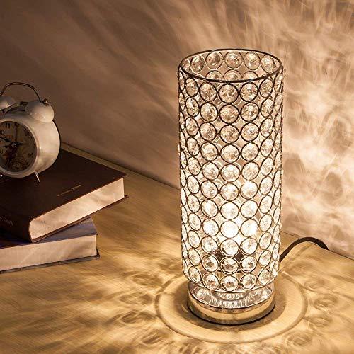 LLYU Crystal Tischlampe, Modern Style K9 Kristall Schreibtischlampe, 28 cm hoch Elegante Kristall Licht, kompakte Design Lampen geeignet für Zuhause, Schlafzimmer, Wohnzimmer, Esszimmer (Splitter) - 28 Cm Hoch Tischlampe