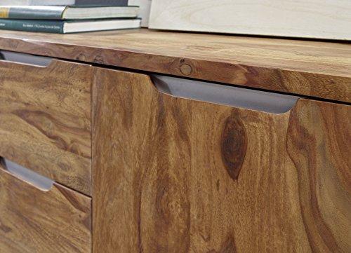 best finebuy sideboard massivholz sheesham kommode cm schubladen tren design highboard with kommode holz dunkel