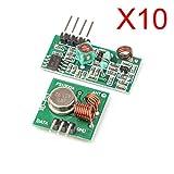 Gaoxing Tech. 5 Pack (10 STÜCKE) 433 MHz WL RF Sender + Empfänger Modul Link Kit für Arduino/ARM / MCU Wireless