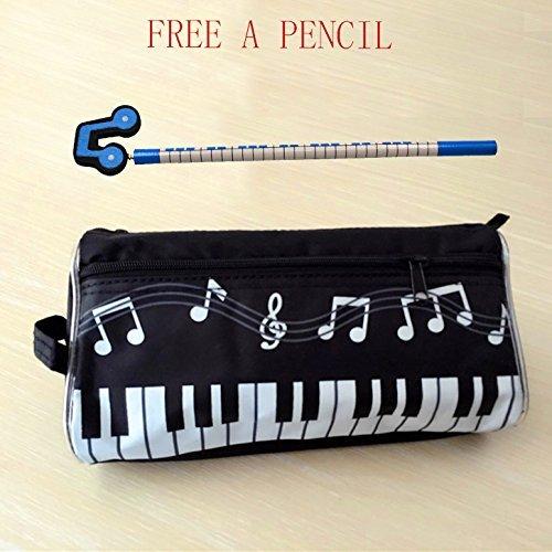 WOGOD Music Pen Bag Big Capacity Pen Bag Oxford Cloth Pencil Case...