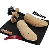 Paire d'embauchoirs en bois bi-directionnels de qualité supérieure - Élargissement de la largeur et de la longueur - Tailles disponibles pour homme et femme 2x Ladies Stretchers