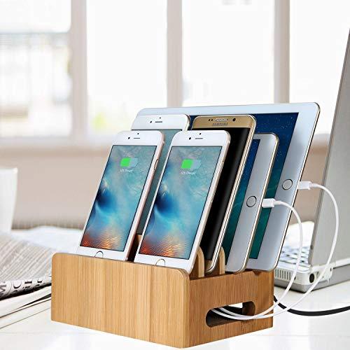 MaxTronic Estación de Carga Organizador de Dispositivos múltiples Universal Cord Organizer Base Dock para teléfonos Inteligentes y tabletas