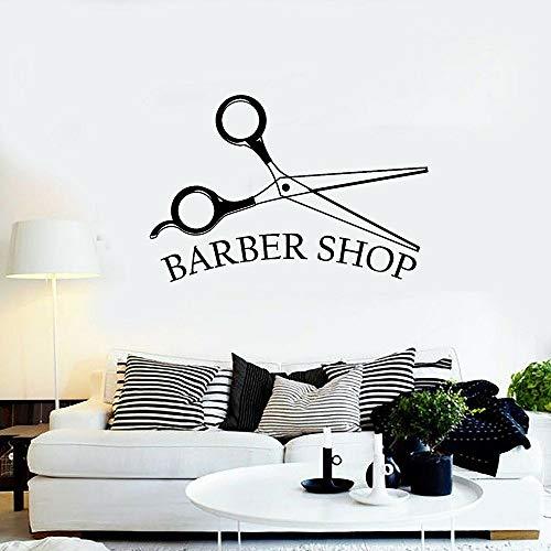 BFMBCH Barbershop Vinyl Wandtattoo Beauty Friseur Friseur Friseurwerkzeug Mann Friseur Shop Dekoration Wandtattoo A3 42x61cm