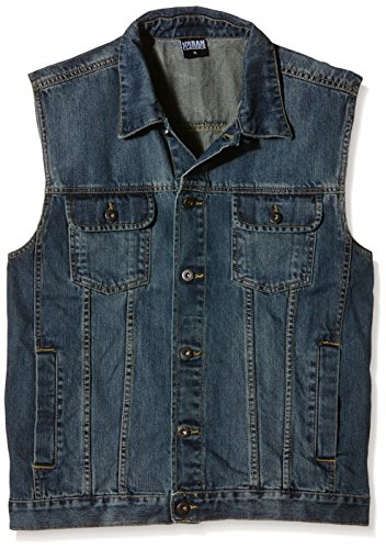 Urban Classics Denim Vest, Gilet Uomo, Blau (denimblue 319), Medium (taglia Produttore: Medium)