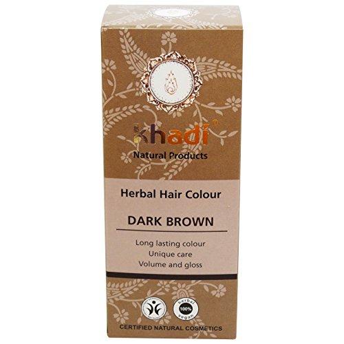 KHADI Tinte Vegetal Castaño Oscuro - Para un cabello castaño natural- Color intenso