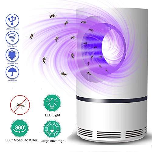 Volwco Bug Zapper, 360 Grados LED Luz De Onda Guiada Lampara Mata Mosquitos Electrico USB Powered Mosquito Lámpara(2019 Nuevo ACTUALIZADO)