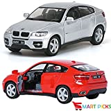 Smart Picks 1:38 Metal Die Cast Car BMW X6, With Door Open, Vehicle Toy Car, 5-inch (Colour May Vary)
