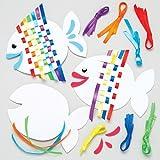 Baker Ross Web-Sets 'Regenbogenfisch' für Kinder - Sommer-Bastelsets für Kinder (6 Stück)