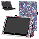 """HP X2 10-p007nl 10-p008nl Custodia,Mama Mouth slim sottile di peso leggero con supporto in Piedi caso Case per 10.1"""" HP X2 10 10-p007nl 10-p008nl Windows 10 Portatile Convertibile Tablet PC(Solo per HP X2 10-p000nl Serie,non è adatto per HP Pavilion x2 10-n000nl Serie),Mushroom Fantasy"""