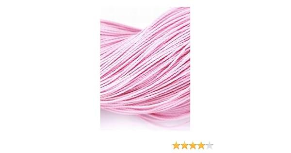Y06175 Charming Beads Continuo Lunghezza 10m x Rosa Pallido Poliestere Cerato 1mm Cordino