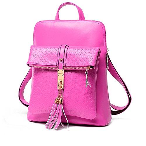 YAAGLE Damen Rucksack elegant Schultasche groß Umhängetasche wasserdicht Damentasche pink