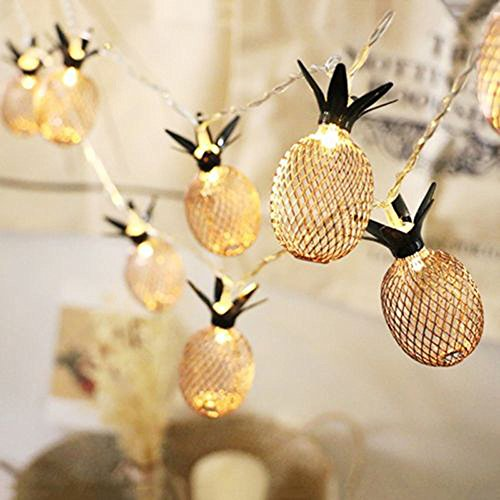 Lichterketten für Innenräume, FeiliandaJJ 10LED 3.5M Ananas Gelb Lichterkette Kinderzimmer LED Lichter Hochzeit Party Halloween Xmas Innen/Außen Haus Deko String Lights (Gelb)