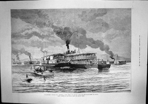 Burmah-Zusammenfassungs-Flotillen-Truppen An Bord Irrawaddy Bhamo 1886