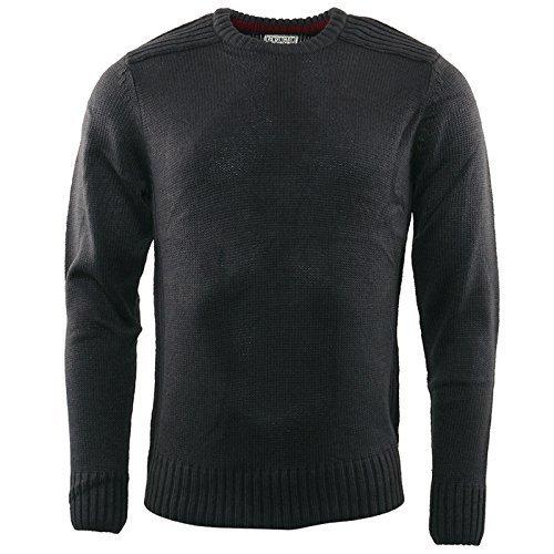 Hommes Tricot Kensington Eastside Neuf Vêtements En Tricot Pull Décontracté Chaud Hiver Top Charbon