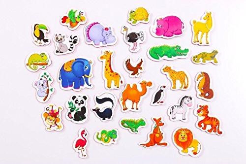 Imanes de goma eva para nevera para niños de animales – 29 espuma imanes para niños – para 3 años
