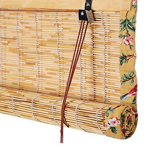 YANZHEN Estores de Bambú Protector Solar Diseño De Bordes Resistente Al Desgaste A Prueba De Humedad Decoración De Fondo, 2 Colores, Personalización del Tamaño (Color : A, Size : 85X150CM)