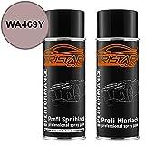 TRISTARcolor Autolack Spraydosen Set Gen. Motors/Hummer / Oldsmobile/Pontiac / Saturn WA469Y Red Bean Smoothie Metallic Perl Basislack Klarlack Sprühdose 400ml
