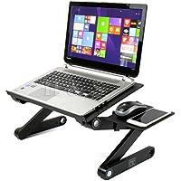H & S® supporto da scrivania per notebook computer portatile regolabile tavolo pieghevole vassoio per letto divano