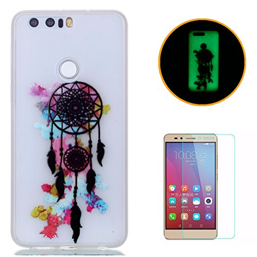 huawei-honor-8-silicone-gel-case-with-free-screen-protectorkasehom-luminous-effect-noctilucent-green
