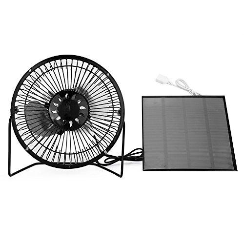 Taidda Solar Panel Powered USB Mini Fan für Camping Caravan Yacht Gewächshaus Hundehaus Huhn Haus Ventilator -