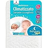 Babysom - Materasso Lettino Neonato Climatizzato Estate/Inverno - 60 x 120 cm - Antiacaro, antisoffoco e antibatterico